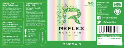 VO2 Sport Športna Prehrana - reflex omega3 ribje olje