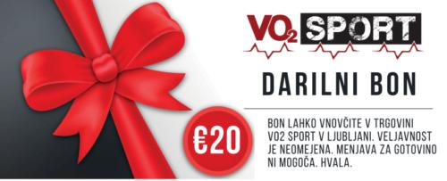 VO2 Sport Športna Prehrana - darilni bon 20