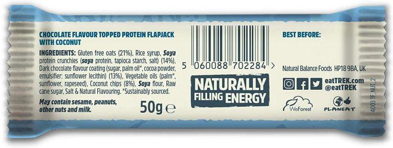 VO2 Sport Športna Prehrana - trek proteinski flapjack kokos sestava kokos