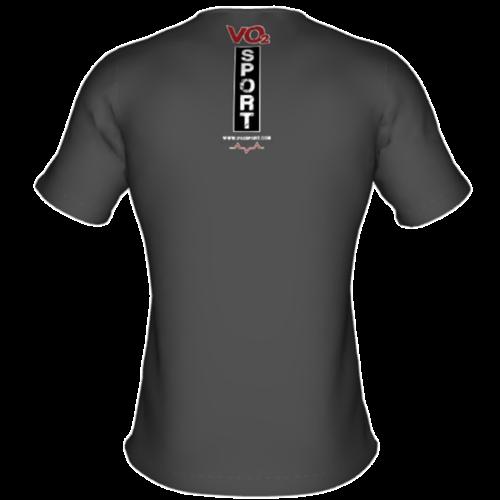 VO2 Sport Športna Prehrana - vo2 majica kratka siva moska zadaj