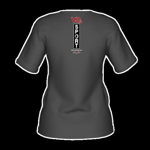 VO2 Sport Športna Prehrana - vo2 majica kratka siva zenska zadaj