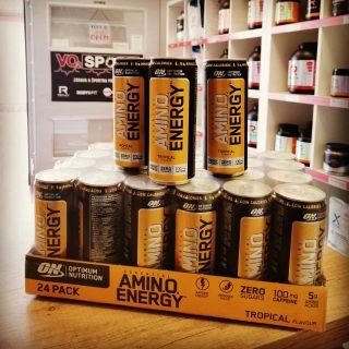 Še ena novost‼️Optimum Nutrition Amino Energy drink! Izjemno močan booster💥Promo cena samo 1.69€ ▶️ Na voljo samo v trgovini VO2 Sport na Kodeljevem v Ljubljani.