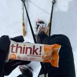 Winter is... not going away 🥶🏔️💪 NEW AMAZING protein bars THINK on ➡️vo2sport.com #vo2sport #thinkproteinbar #proteinbar #snowclimbing #winterjoy