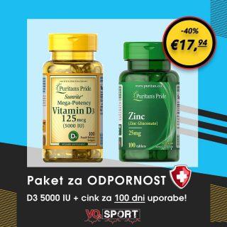 Puritan paket za 𝗢𝗗𝗣𝗢𝗥𝗡𝗢𝗦𝗧🛡. Za 𝟭𝟬𝟬 𝗱𝗻𝗶 redne uporabe!✅𝗩𝗶𝘁𝗮𝗺𝗶𝗻 𝗗𝟯 & 𝗖𝗶𝗻𝗸 sta ena izmed ključnih vitaminov in mineralov za močan 𝗶𝗺𝘂𝗻𝘀𝗸𝗶 𝘀𝗶𝘀𝘁𝗲𝗺 𝗶𝗻 𝗼𝗱𝗽𝗼𝗿𝗻𝗼𝘀𝘁 proti prehladu in virusnim obolenjem ⚔40% popusta. Poštnina brezplačna!➡️ vo2sport.com/novo